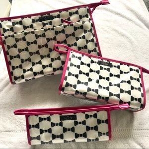 Kate Spade Cosmetic bags (3) Whitehall court heddy